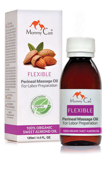 Flexible 100% pure organic perineal massage oil